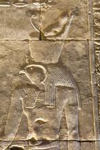 Relief Of The God Horus, Temple Of Horus, Edfu, Egypt