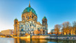 Berlin Cathedral from the river spree