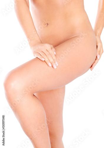 Fototapeta Beautiful slim female nude body obraz na płótnie