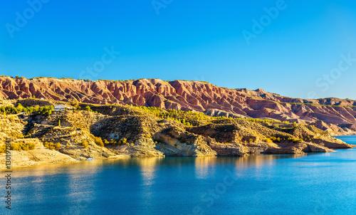 Landscape near Negratin Reservoir in Spain Canvas Print