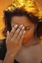Woman Praying, Sign Of The Cross, Galatone, Lecce
