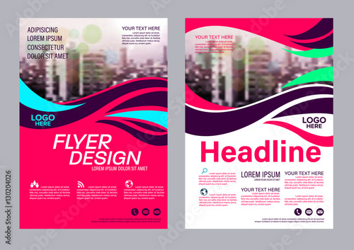 Modern Brochure Layout Design Template Annual Report Flyer Leaflet