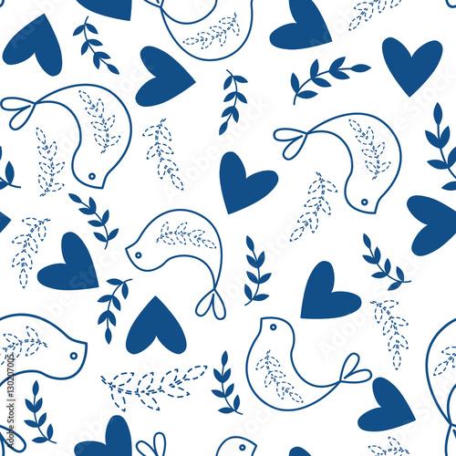 Fényképezés  Seamless Pattern with Traditional Folk Motif