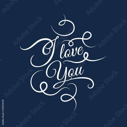 I love you Vector text background, creative color pattern. Canvas-taulu