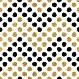 Bezszwowy wzór złocisty błyskotliwość i czarny szewron okrąg, ręka rysujący tło zygzakowaty złoty i czarny, wektorowy wzór na ślubnego zaproszenie, karta, wakacje, opakowanie, tkanina, projektowanie stron internetowych - 130221406