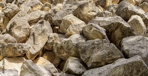 Fotografie, Obraz  Huge rockfall stone valley of Avakas Gorge