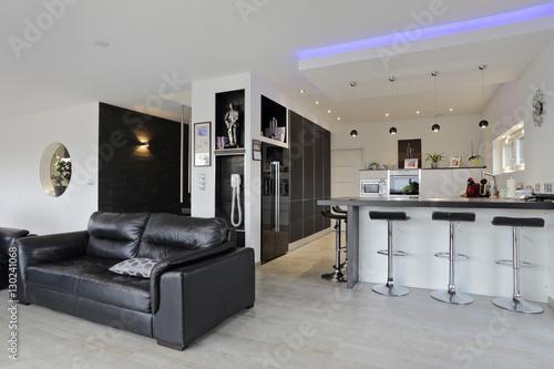 intérieur salon salle à manger cuisine contemporain – kaufen Sie ...