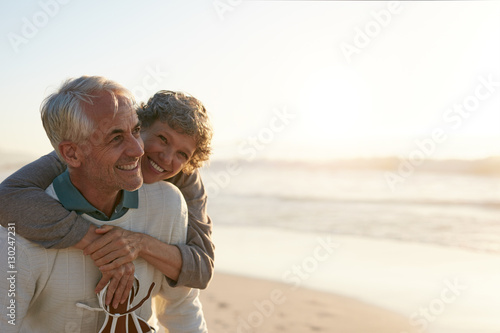 Fotografie, Obraz  Senior couple having fun at the beach