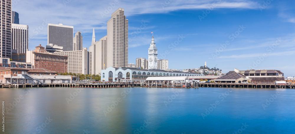 Fototapety, obrazy: San Francisco skyline panorama, California, USA