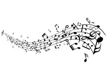 Stave With Music Notes Vector