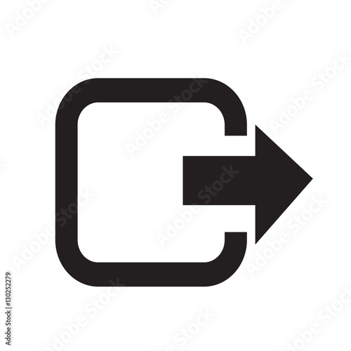 Logout exit icon illustration design Wall mural