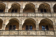 Renaissance Inner Court Of The Plassenburg Castle, Kulmbach, Upper Franconia, Bavaria, Germany