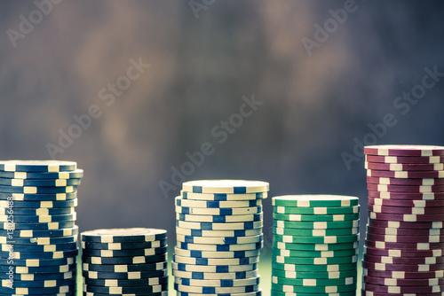casino plastic chips stacks плакат