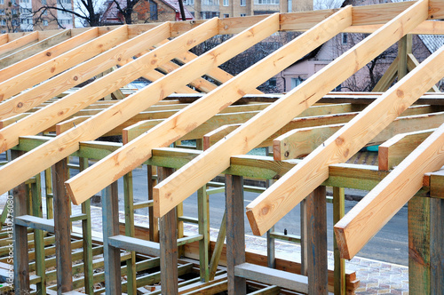 The Wooden Structure Of Building Frame