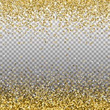 Gold Glitter Background. Golde...