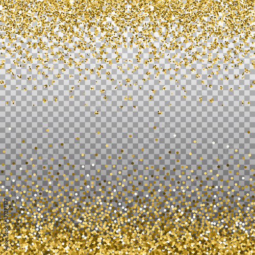 golden sparkles on border template for holiday designs invitation