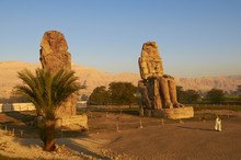 Colossi Of Memnon, Carved To Represent The 18th Dynasty Pharaoh Amenhotep III, West Bank Of The River Nile, Thebes, Egypt