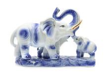Three Porcelain Elephant Isola...