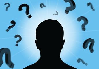 Mysteriös, Mann, Fragen, Mystery