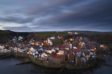 The View From Cowbar Of The Fishing Village Of Staithes, North Yorkshire