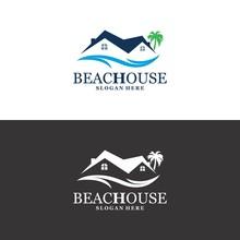 Beach House Logo In Vector