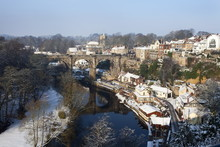 Railway Viaduct Over The Nidd At Knaresborough In Winter, Yorkshire