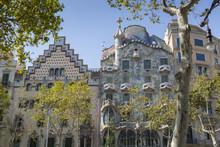 Antoni Gaudi's Casa Batllo Building, Barcelona, Catalonia, Spain
