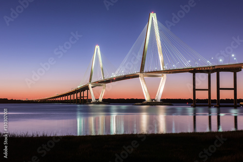 Fototapeta premium Arthur Ravenel Jr Bridge Charleston SC