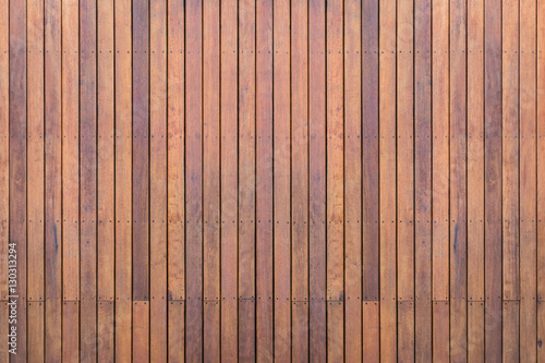 Stampa su Tela Exterior wooden decking or flooring on the terrace