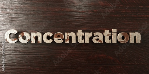 Fotografie, Obraz  Concentration - grungy wooden headline on Maple  - 3D rendered royalty free stock image