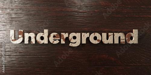 Fényképezés  Underground - grungy wooden headline on Maple  - 3D rendered royalty free stock image
