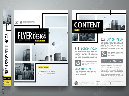 Portfolio Design Template Vectorminimal Brochure Report