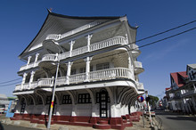 Recently Constructed House In The Traditional Style Of Paramaribo, Suriname