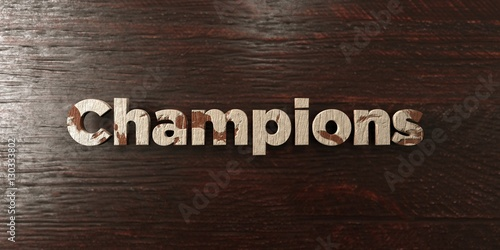 Fotografie, Tablou  Champions - grungy wooden headline on Maple  - 3D rendered royalty free stock image