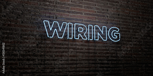 Admirable Wiring Realistic Neon Sign On Brick Wall Background 3D Rendered Wiring Digital Resources Indicompassionincorg