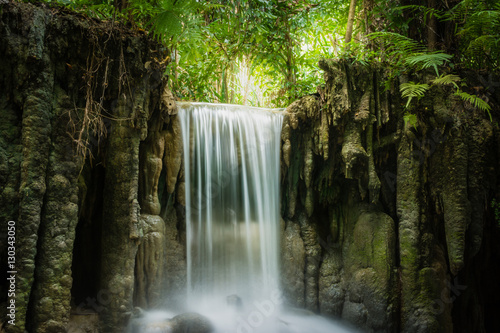 Photo sur Aluminium Cascade Erawan waterfall, the beautiful waterfall in forest at Erawan National Park - A beautiful waterfall on the River Kwai. Kanchanaburi, Thailand