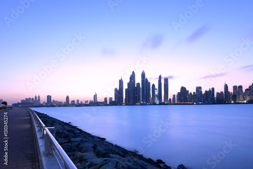 Photo  Jumeirah Beach Residence View from Palm Jumeirah in Dubai