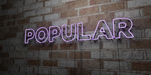 POPULAR - Glowing Neon Sign On...