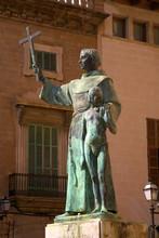 Statue Of Junipero Serra, Palma, Mallorca, Spain