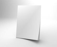 Blank Opening Corner 3D Illustration Magazine Mock Up.