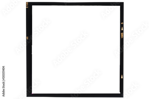 Photo Middle format analog film frame on white