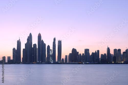 Spoed Foto op Canvas Dubai Jumeirah Beach Residence View from Palm Jumeirah in Dubai
