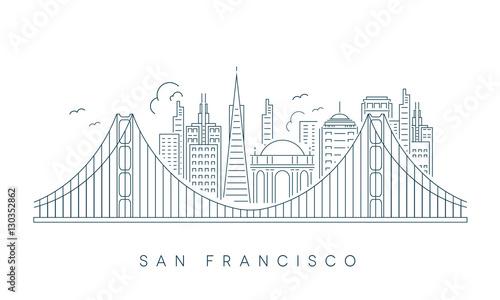 SAN FRANCISCO SKYLINE Wallpaper Mural