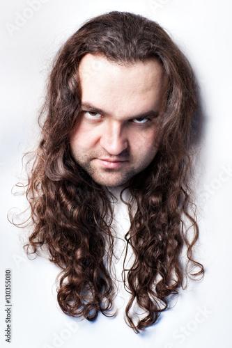 Fotografia, Obraz  Offended man's face.