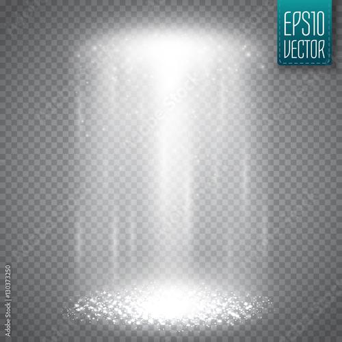 Photo  UFO light beam isolated on transparnt background. Vector