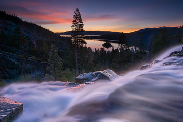 Fototapeta na wymiar Eagle Falls Early Morning. Lake Tahoe, California.