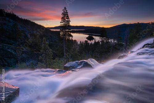 Fototapeta Eagle Falls Early Morning. Lake Tahoe, California.