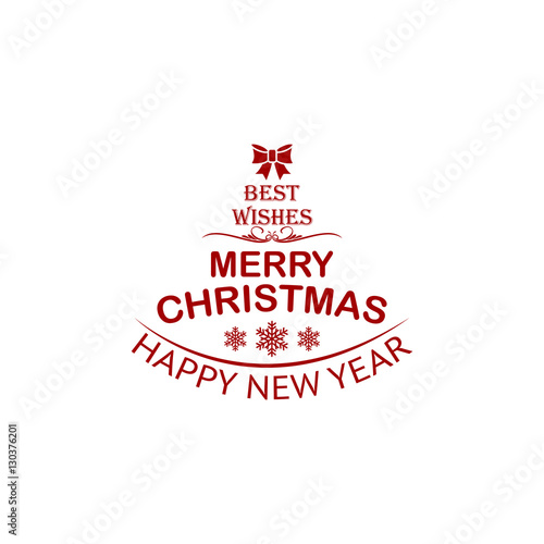 Merry Christmas Greeting Card and Decoration Vector Background ...