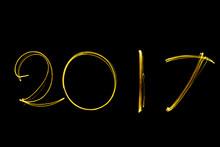 Text Font 2017 Firework Writte...