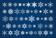 50 Different Vector Snowflakes...